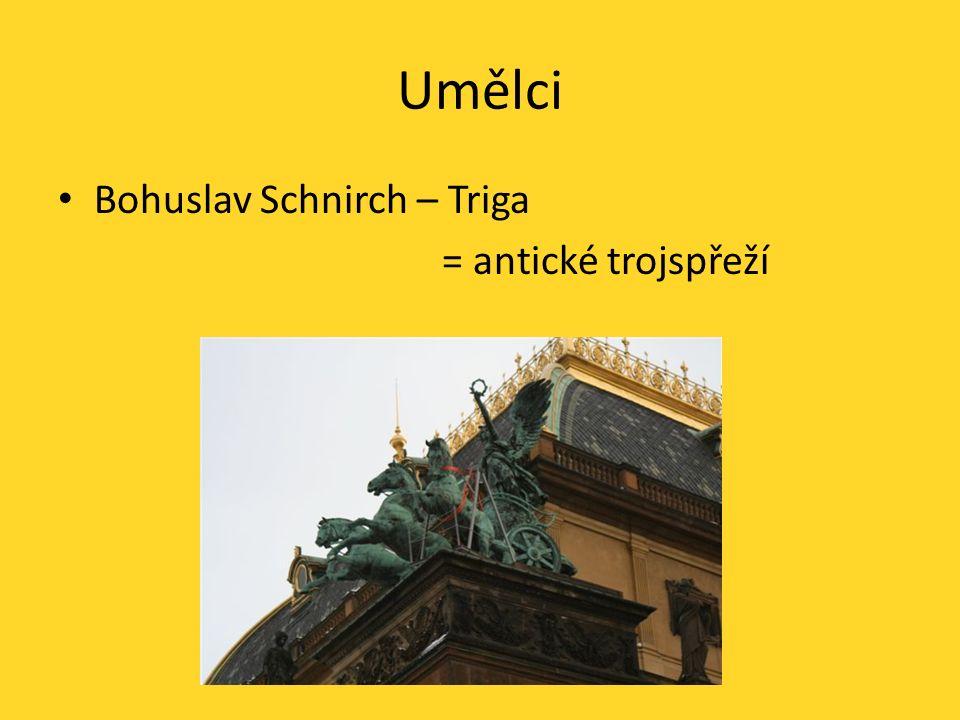 Umělci Bohuslav Schnirch – Triga = antické trojspřeží