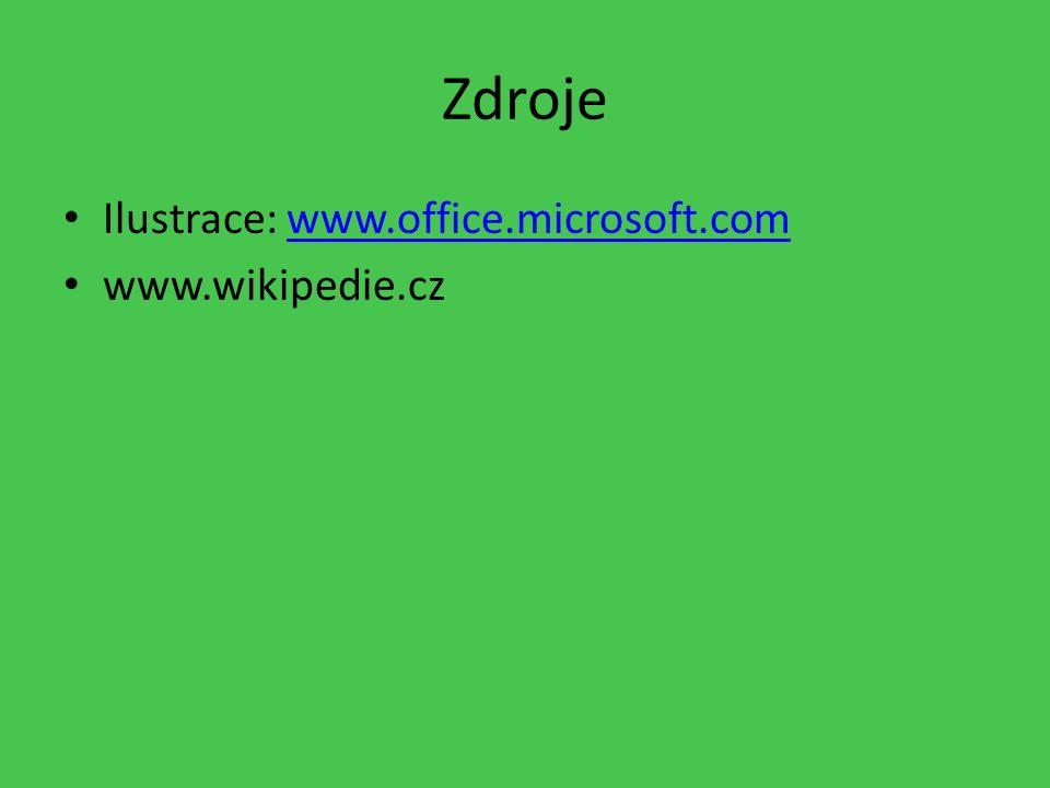 Zdroje Ilustrace: www.office.microsoft.comwww.office.microsoft.com www.wikipedie.cz