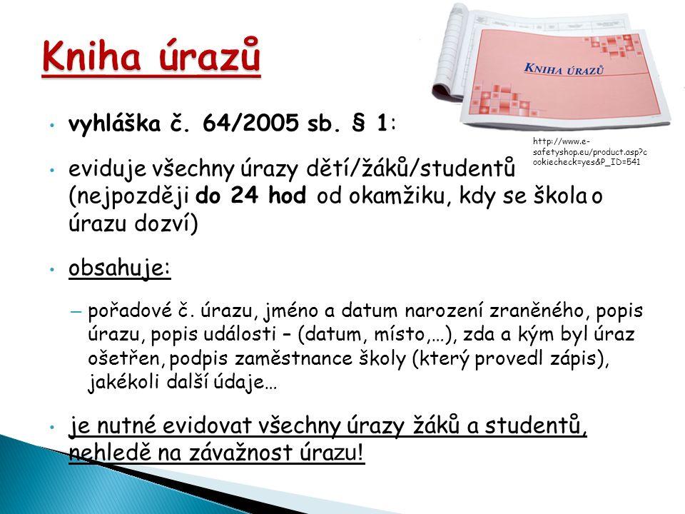 vyhláška č. 64/2005 sb.