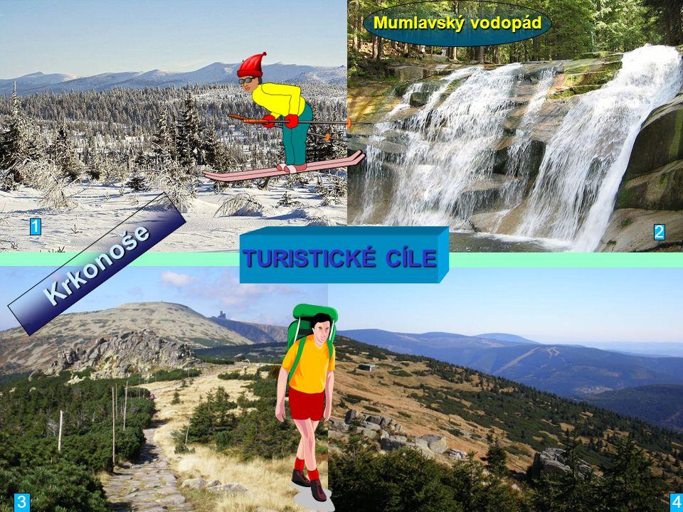 1 34 TURISTICKÉ CÍLE 2 Mumlavský vodopád Krkonoše