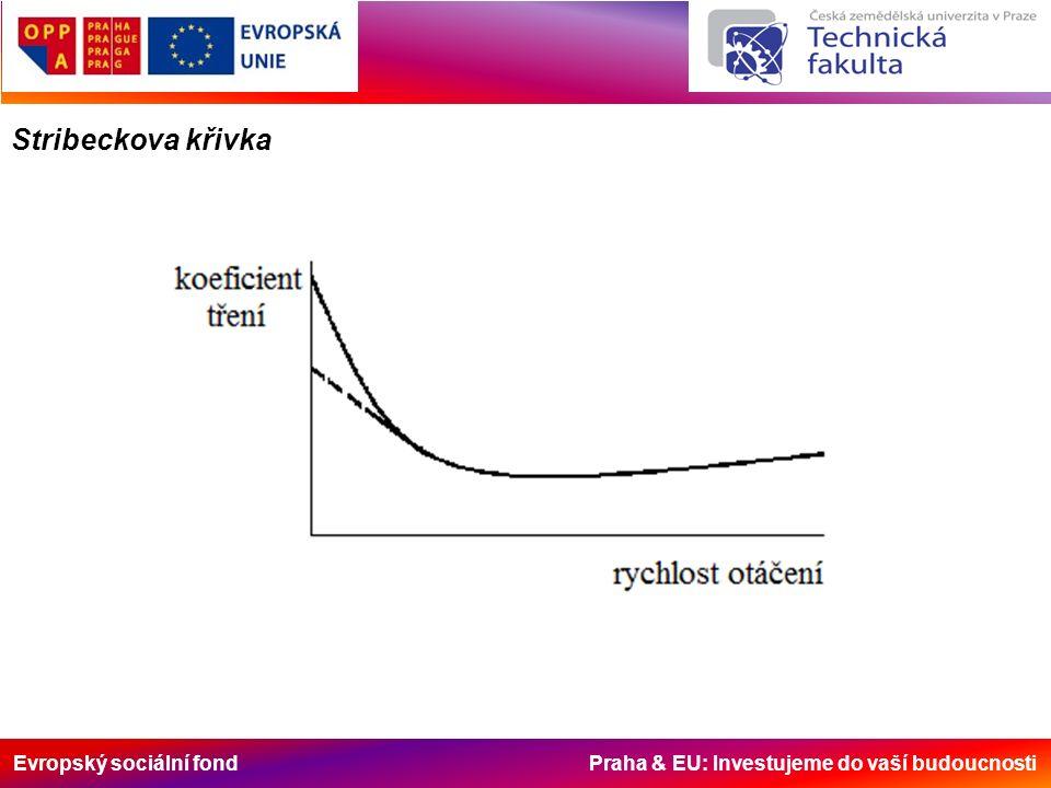 Evropský sociální fond Praha & EU: Investujeme do vaší budoucnosti Stribeckova křivka