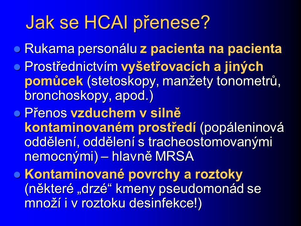 Jak se HCAI přenese.