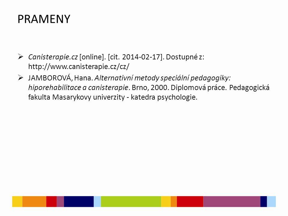 PRAMENY  Canisterapie.cz [online]. [cit. 2014-02-17].