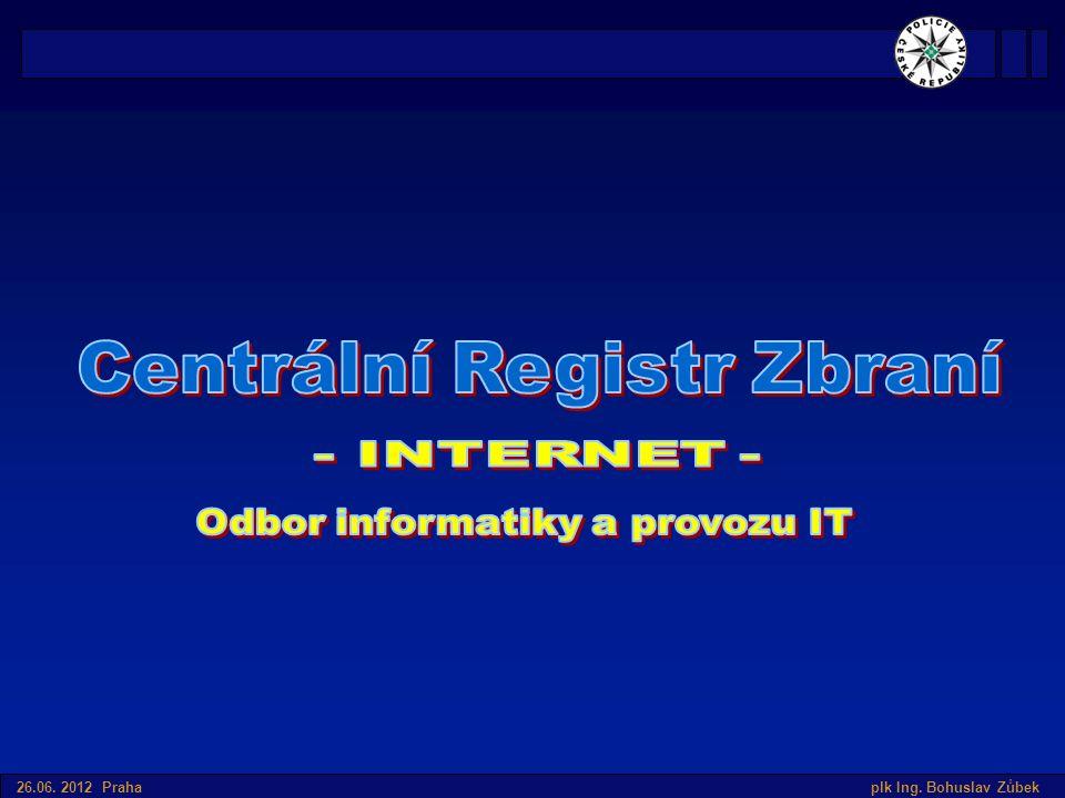 Úvod do SIS v České republice 26.06. 2012 Praha plk Ing. Bohuslav Zůbek