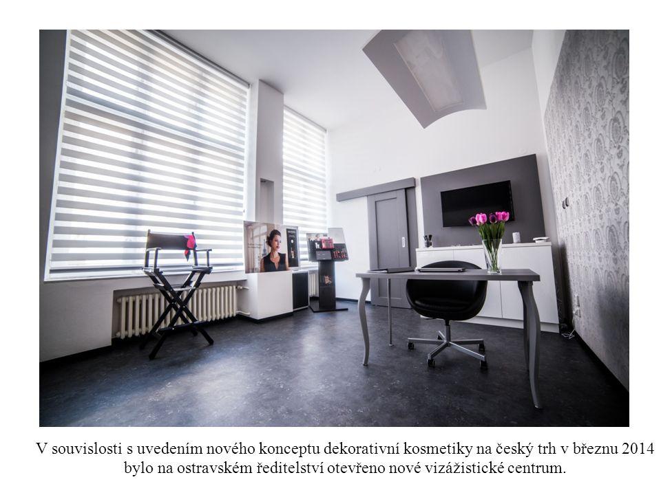 V souvislosti s uvedením nového konceptu dekorativní kosmetiky na český trh v březnu 2014 bylo na ostravském ředitelství otevřeno nové vizážistické centrum.