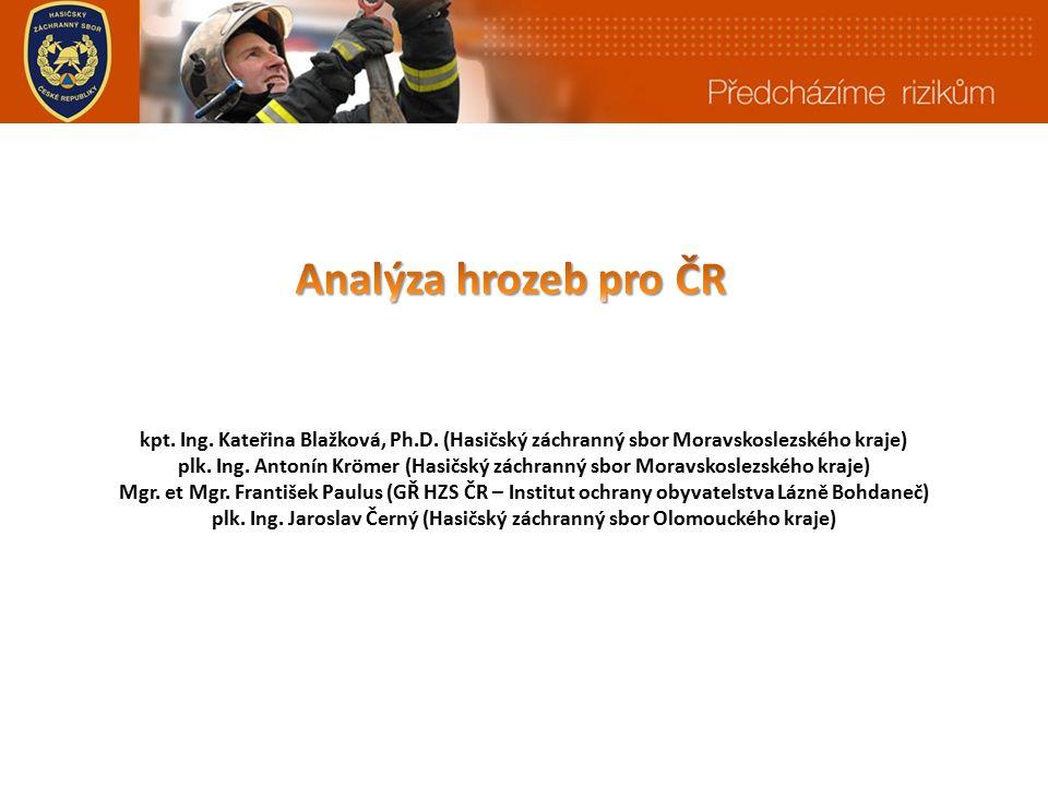 kpt. Ing. Kateřina Blažková, Ph.D. (Hasičský záchranný sbor Moravskoslezského kraje) plk.