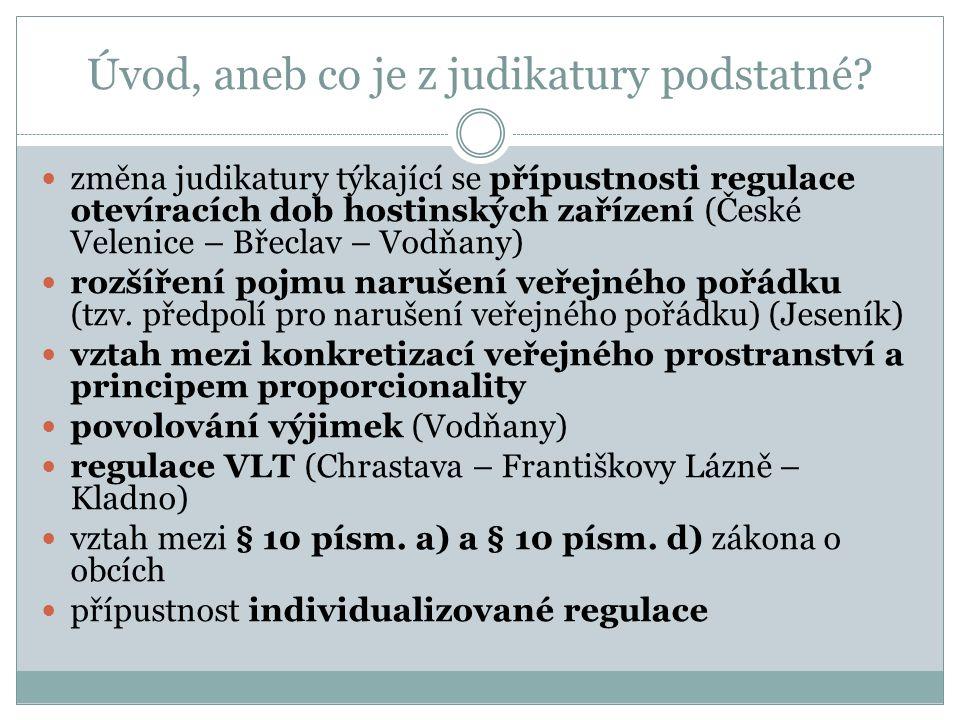 Změny judikatury Nález Pl.