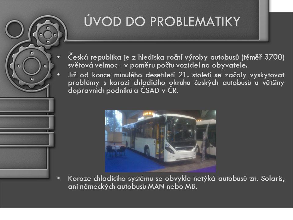 ÚVOD DO PROBLEMATIKY Česká republika je z hlediska roční výroby autobusů (téměř 3700) světová velmoc - v poměru počtu vozidel na obyvatele.