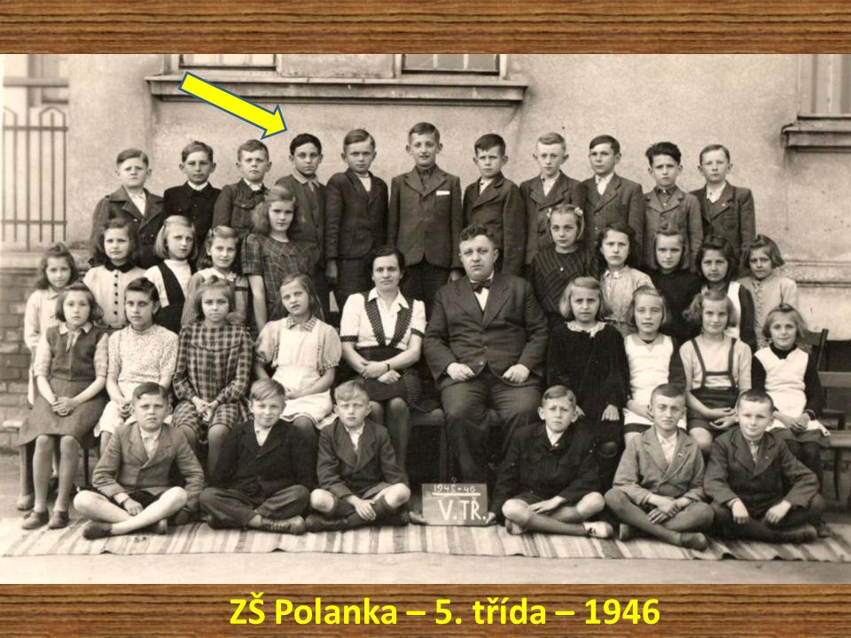 ZŠ Polanka – 5. třída – 1946