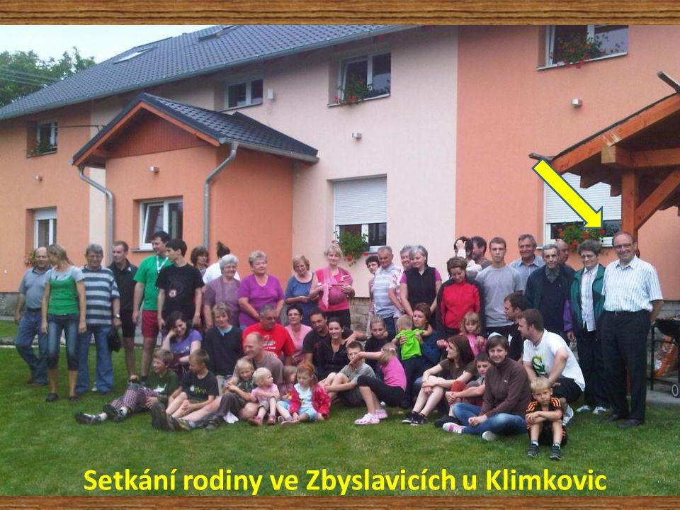 Setkání rodiny ve Zbyslavicích u Klimkovic