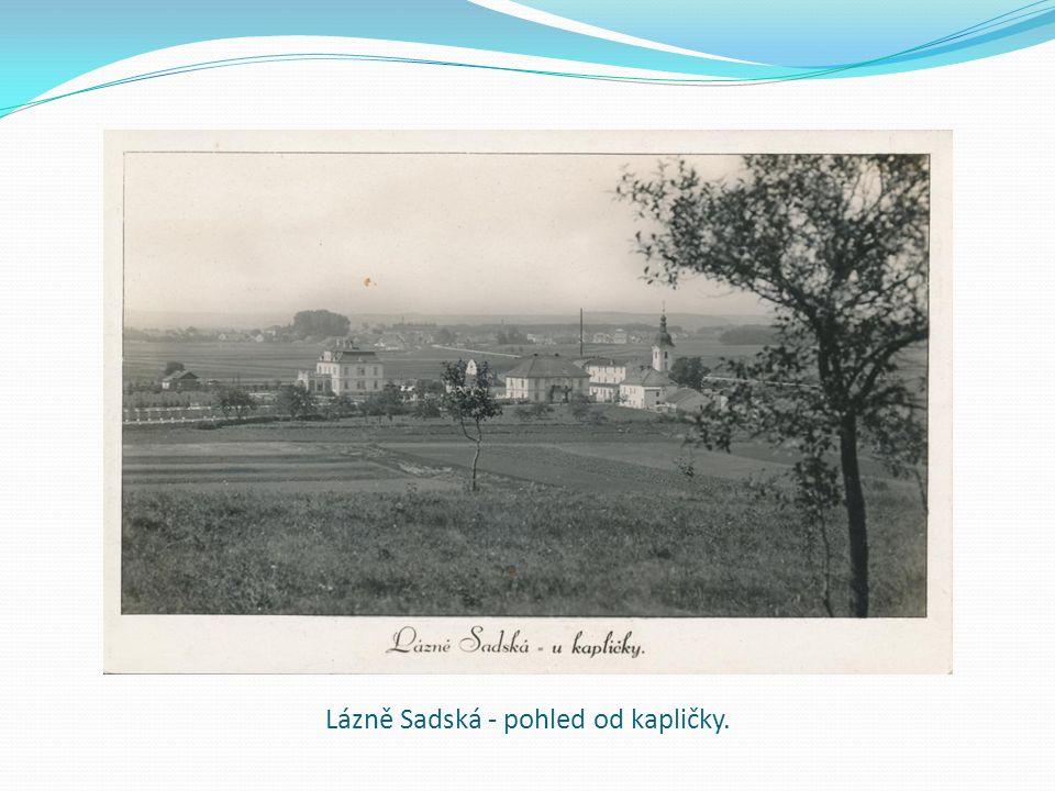 Lázně Sadská - pohled od kapličky.