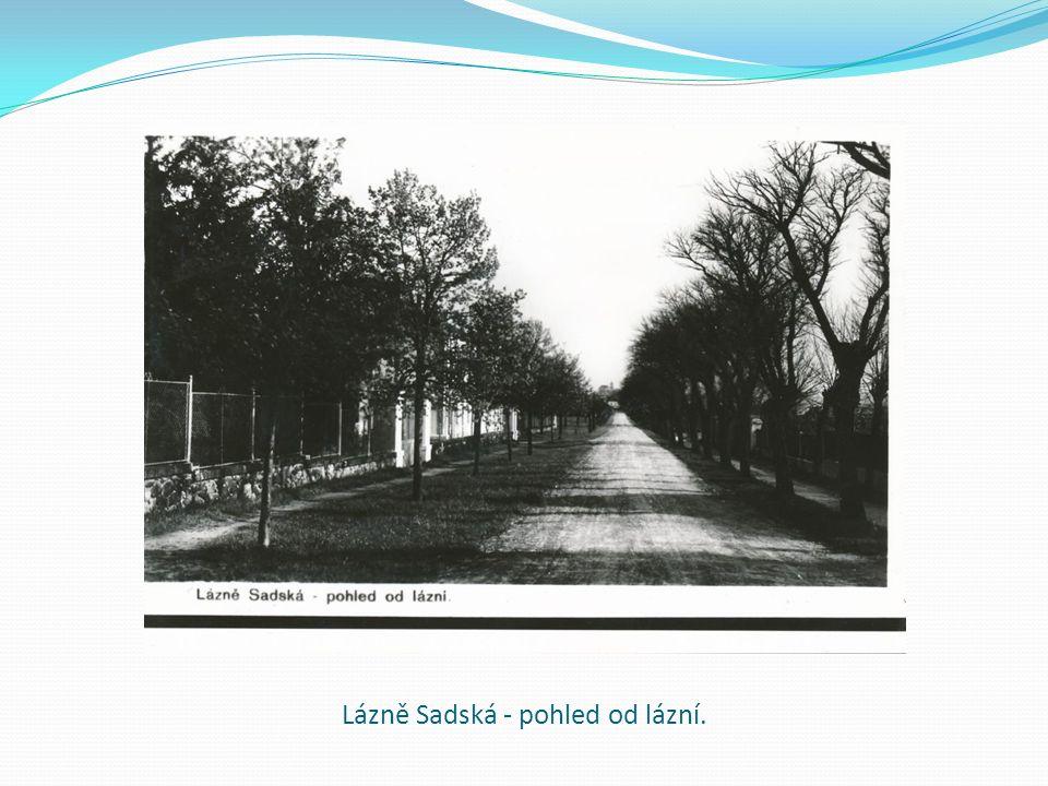 Lázně Sadská - pohled od lázní.