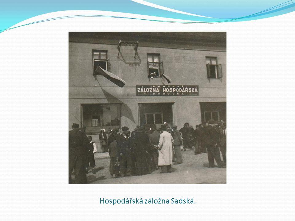 Hospodářská záložna Sadská.