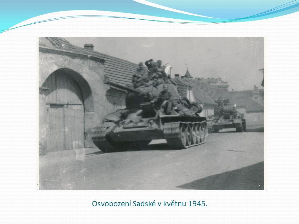 Osvobození Sadské v květnu 1945.