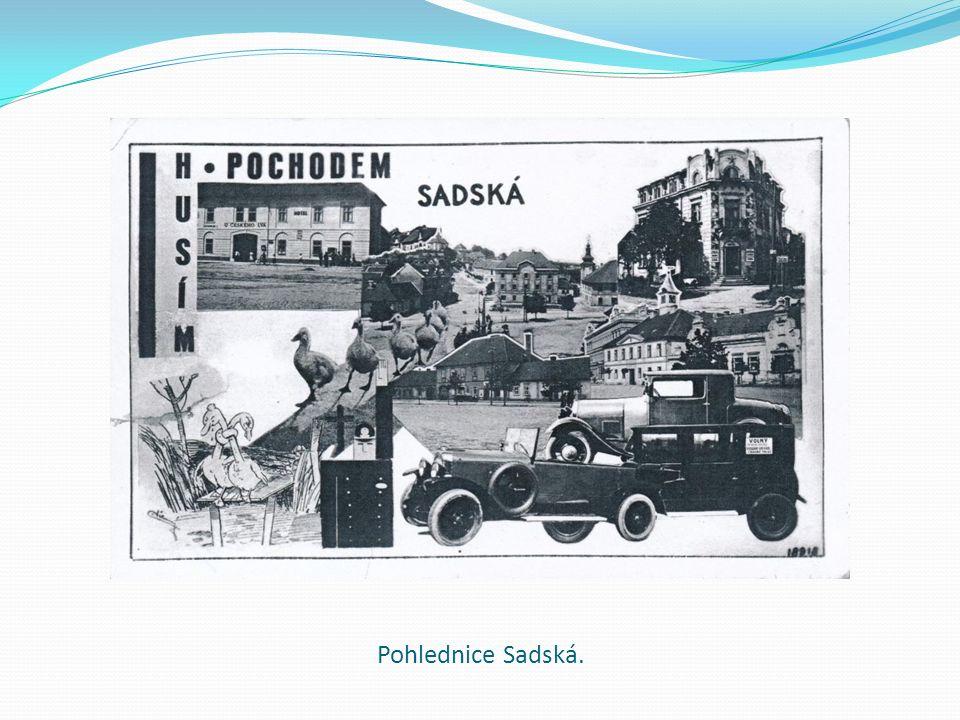 Pohlednice Sadská.