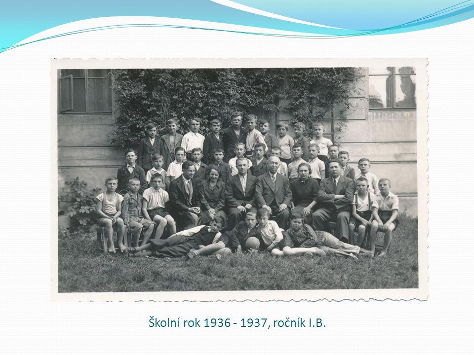 Školní rok 1936 - 1937, ročník I.B.