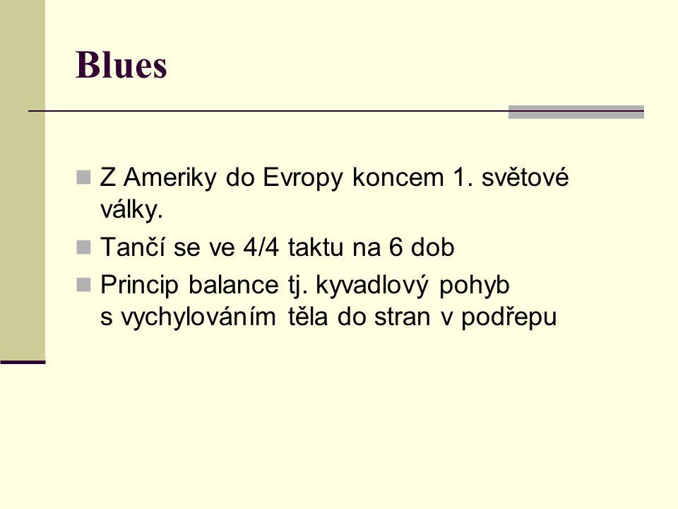 Blues Z Ameriky do Evropy koncem 1. světové války.