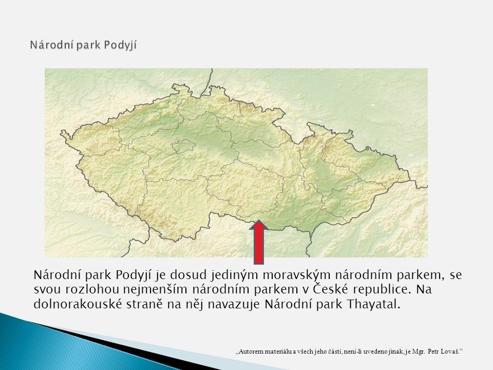 Národní park Podyjí je dosud jediným moravským národním parkem, se svou rozlohou nejmenším národním parkem v České republice.
