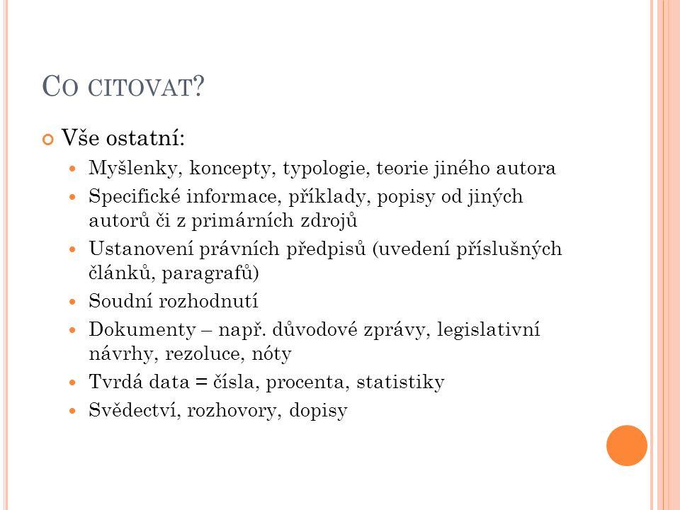 C O CITOVAT .