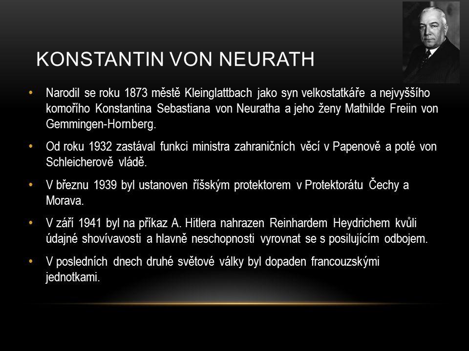 Narodil se roku 1873 městě Kleinglattbach jako syn velkostatkáře a nejvyššího komořího Konstantina Sebastiana von Neuratha a jeho ženy Mathilde Freiin von Gemmingen-Hornberg.