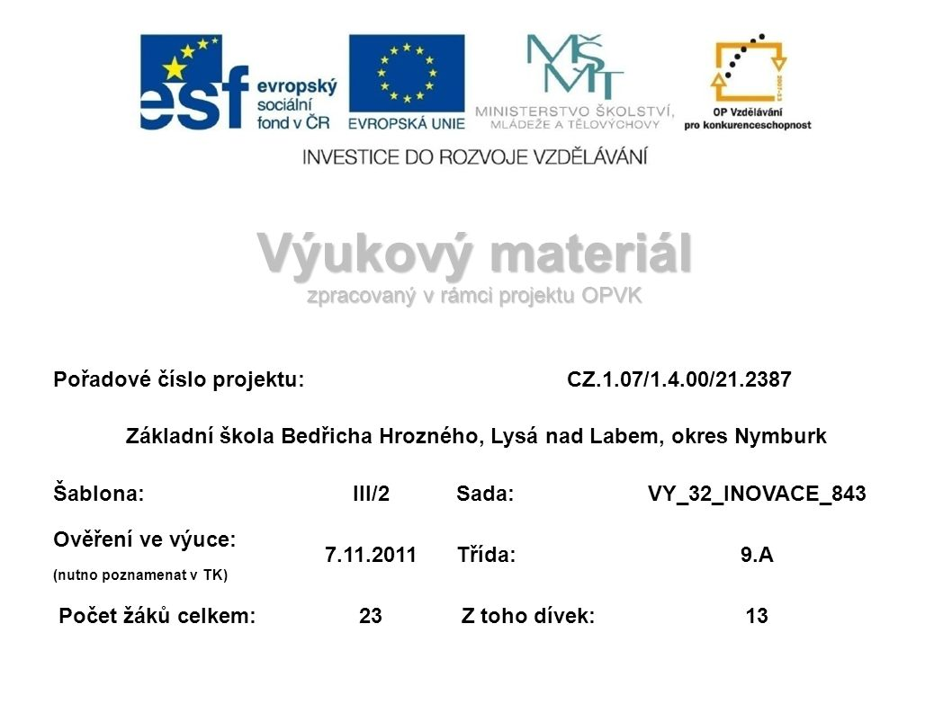 Zdroje a citace Dostupný z WWW: [ 2011-10-26].