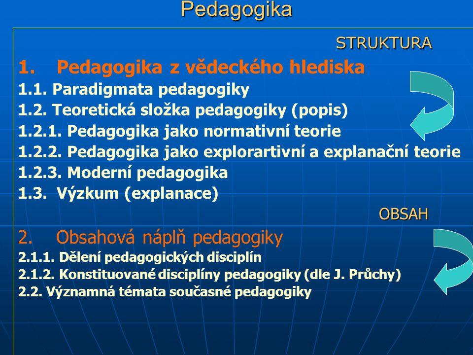 1.Pedagogika z vědeckého hlediska Je pedagogika vědou nebo uměním.