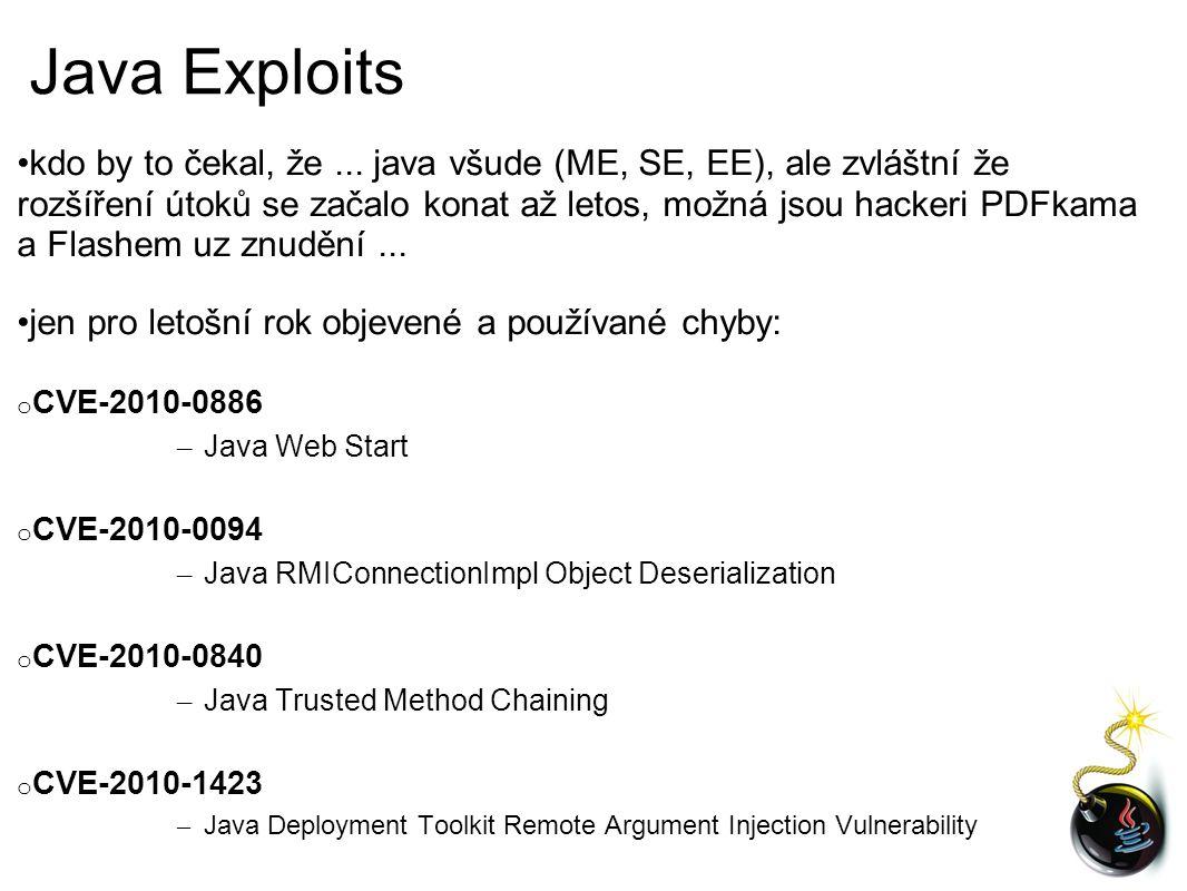 Java Exploits kdo by to čekal, že...