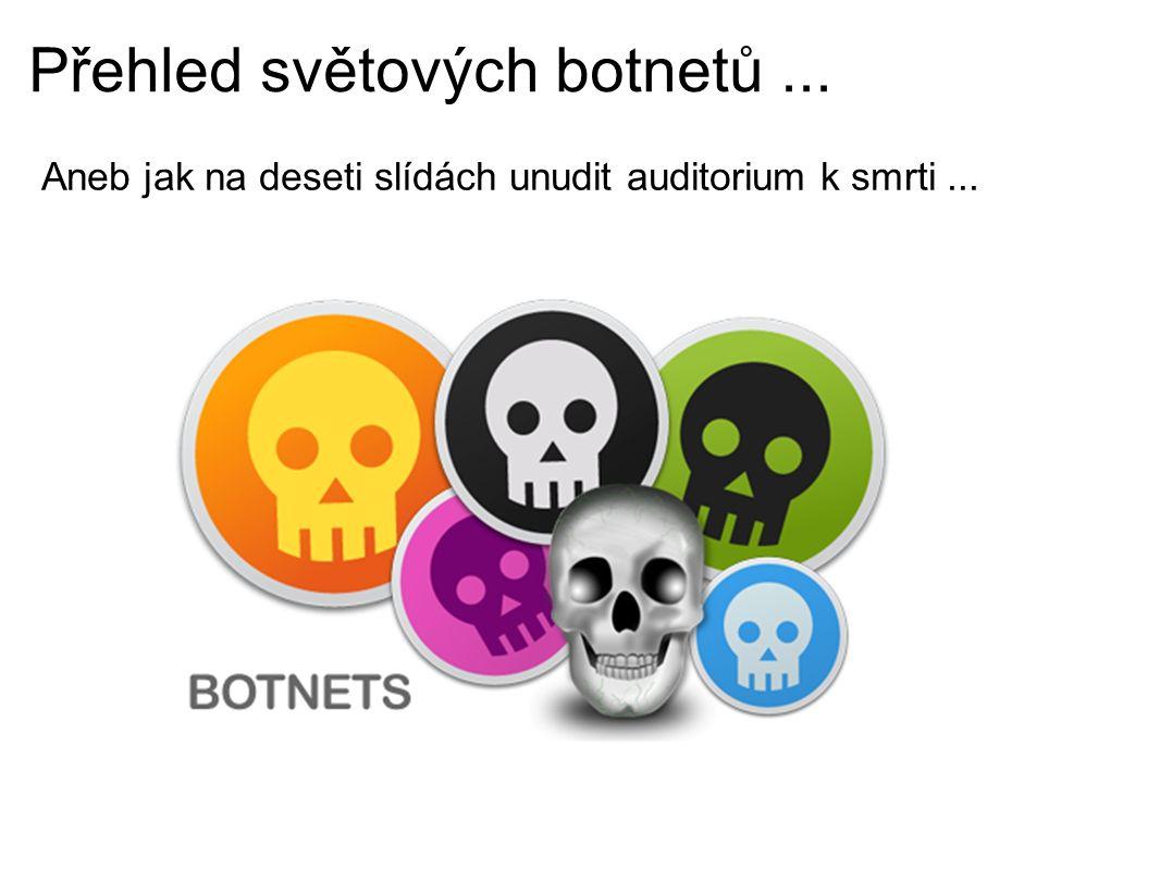 Přehled světových botnetů... Aneb jak na deseti slídách unudit auditorium k smrti...