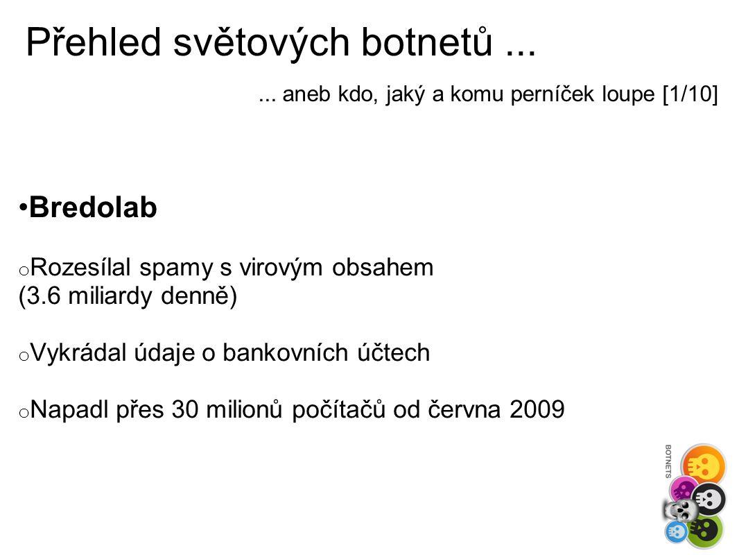 Přehled světových botnetů......