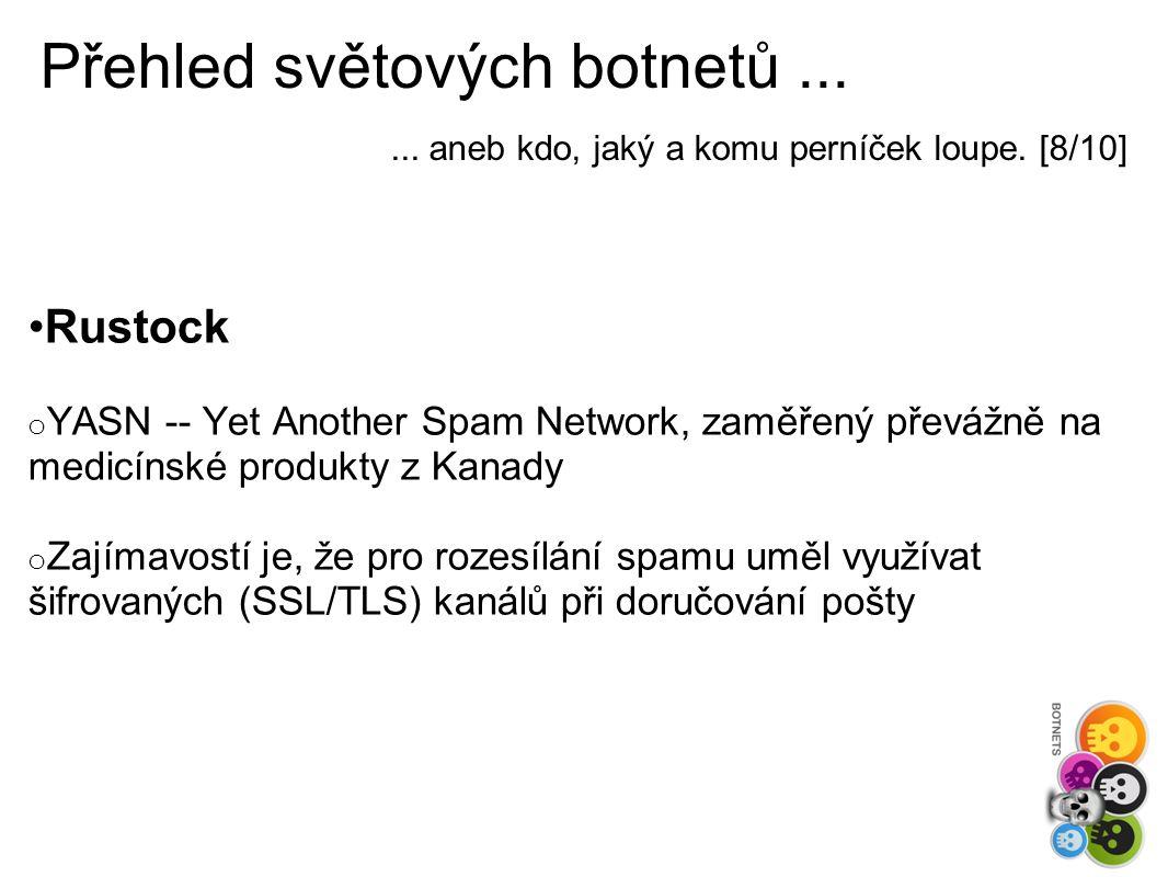 Přehled světových botnetů...... aneb kdo, jaký a komu perníček loupe.