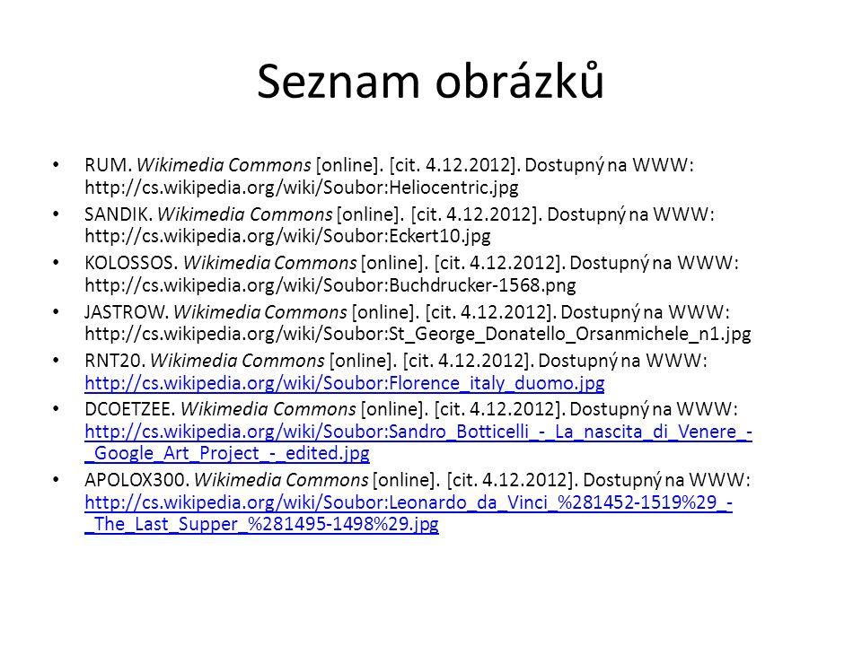 Seznam obrázků RUM.Wikimedia Commons [online]. [cit.