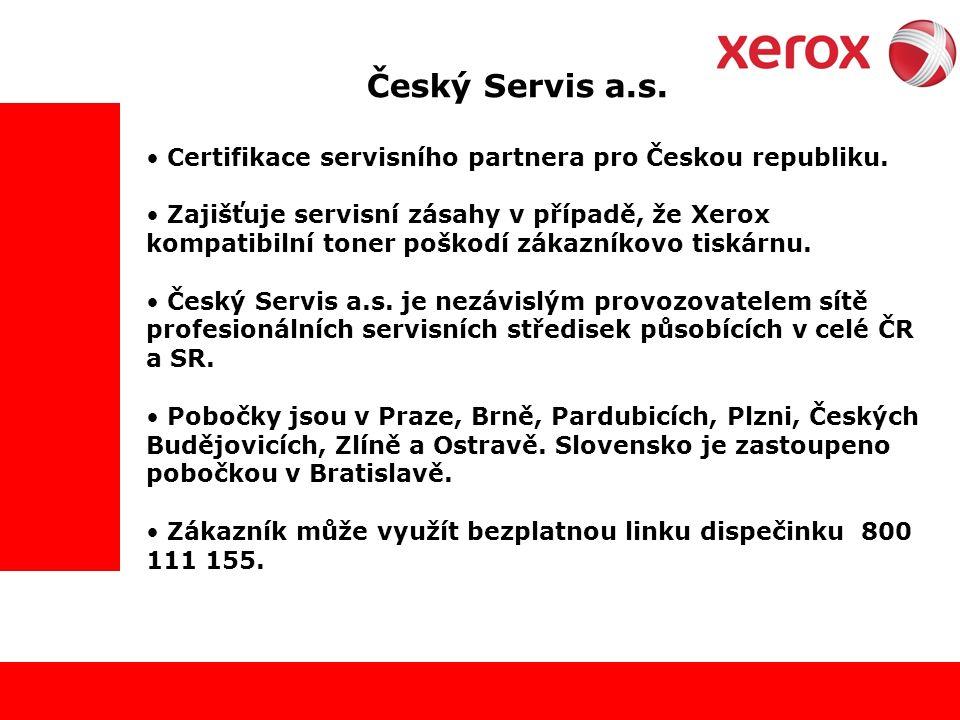 Český Servis a.s. Certifikace servisního partnera pro Českou republiku.