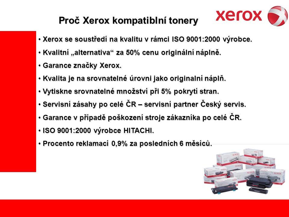 Xerox se soustředí na kvalitu v rámci ISO 9001:2000 výrobce.