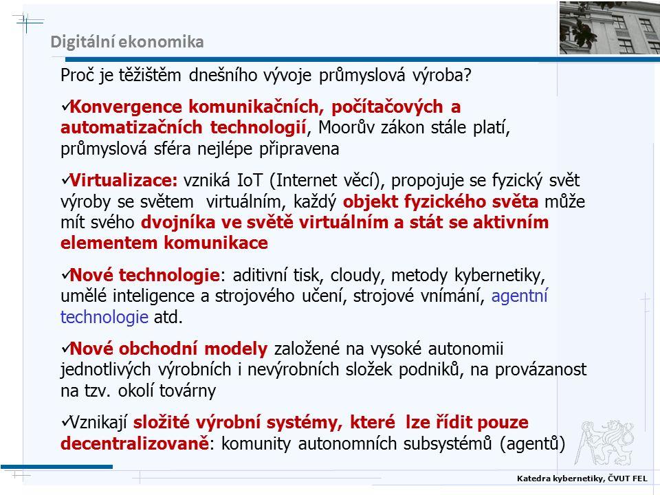 Katedra kybernetiky, ČVUT FEL 4.průmyslová revoluce  Technologické pokroky  1.