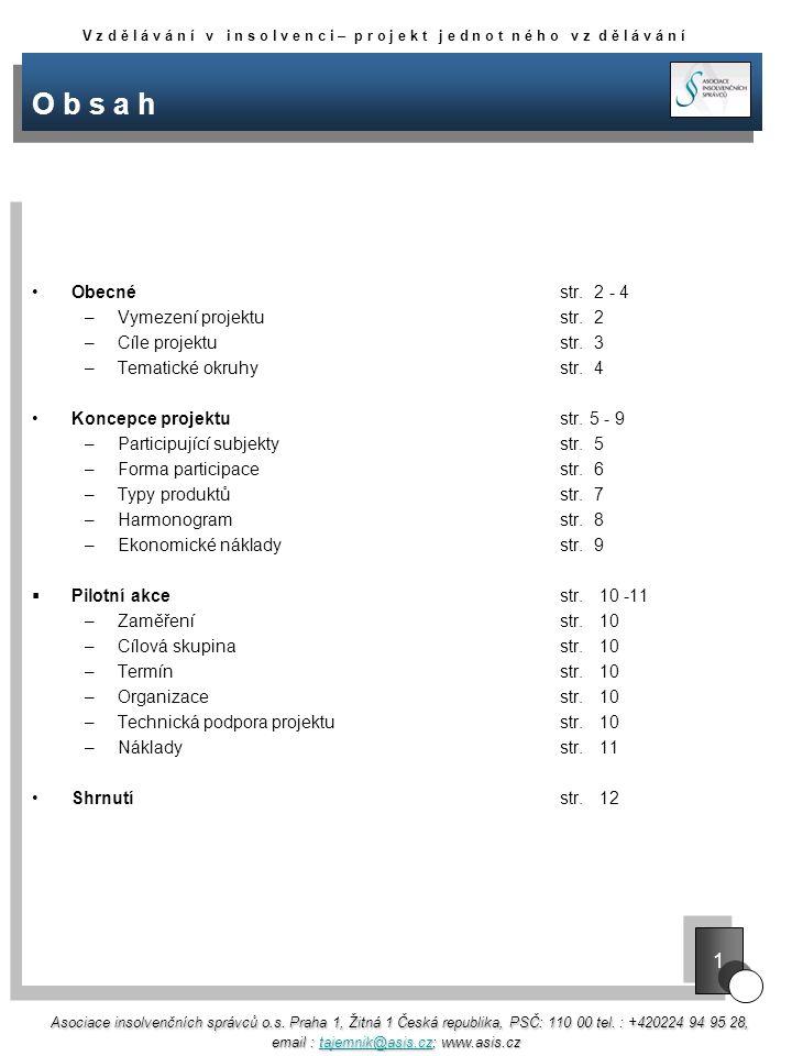 O b s a h Obecnéstr. 2 - 4 –Vymezení projektustr.