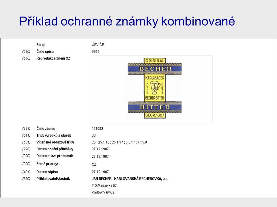 Příklad ochranné známky kombinované