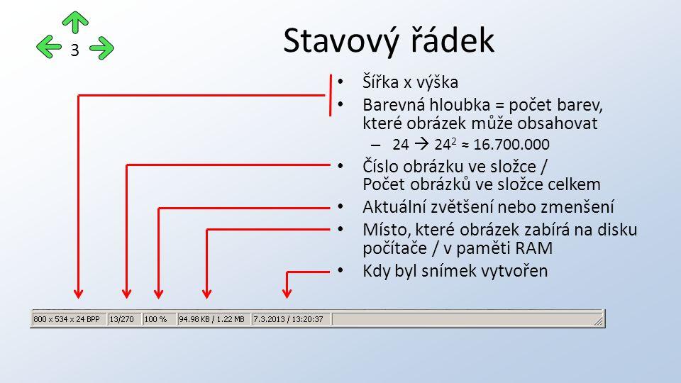 """Enter – obrázek se zvětší na celou obrazovku – Dalším stiskem klávesy Enter nebo Esc se zpět zobrazí okno programu Šipka doprava / doleva – přechod na další / předchozí snímek Klávesa """"+ / Klávesa """"– – zvětšení / zmenšení zobrazení snímku Esc – ukončení programu Základní práce s programem 4"""