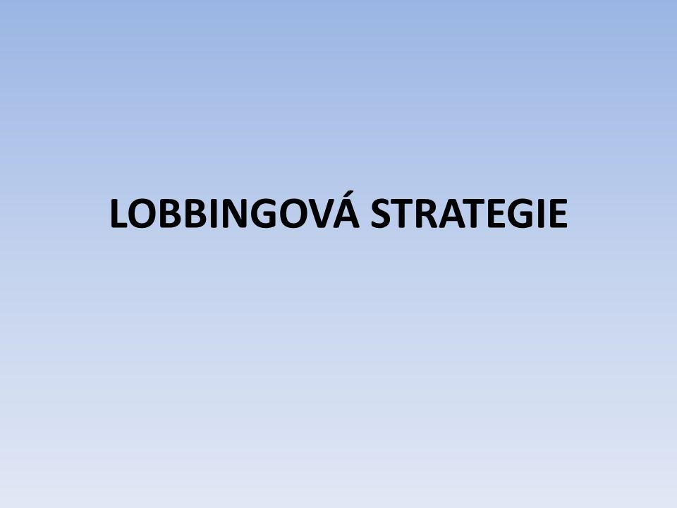 LOBBINGOVÁ STRATEGIE