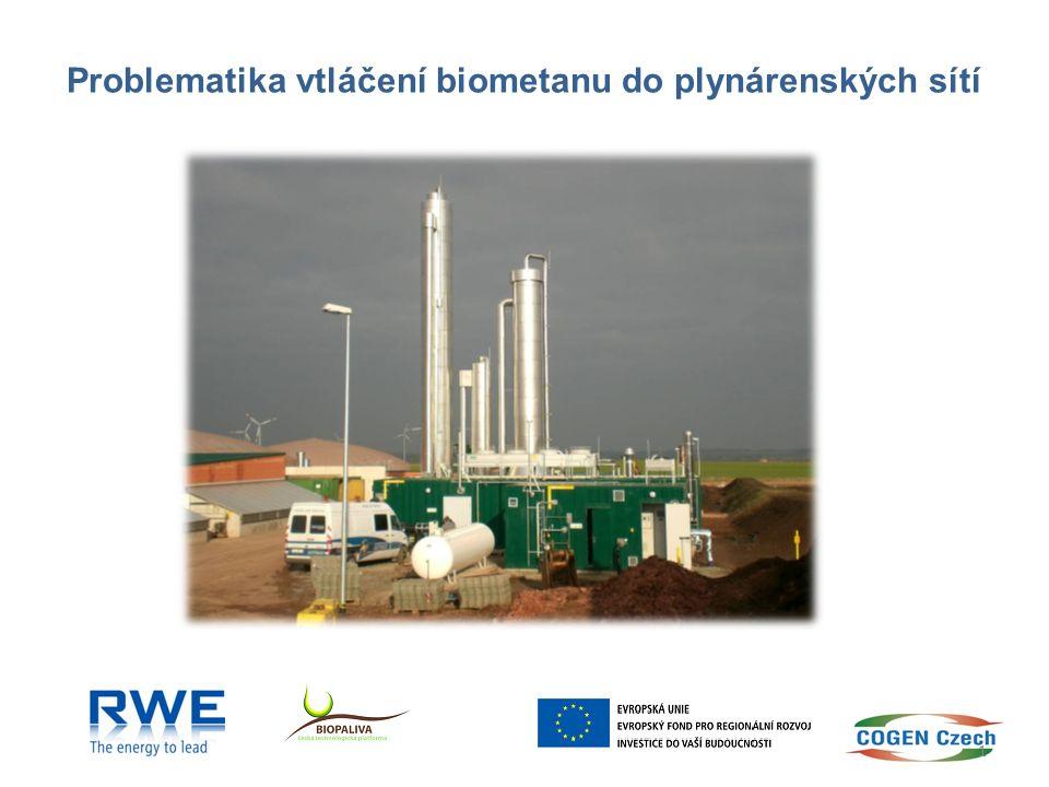 Problematika vtláčení biometanu do plynárenských sítí 1