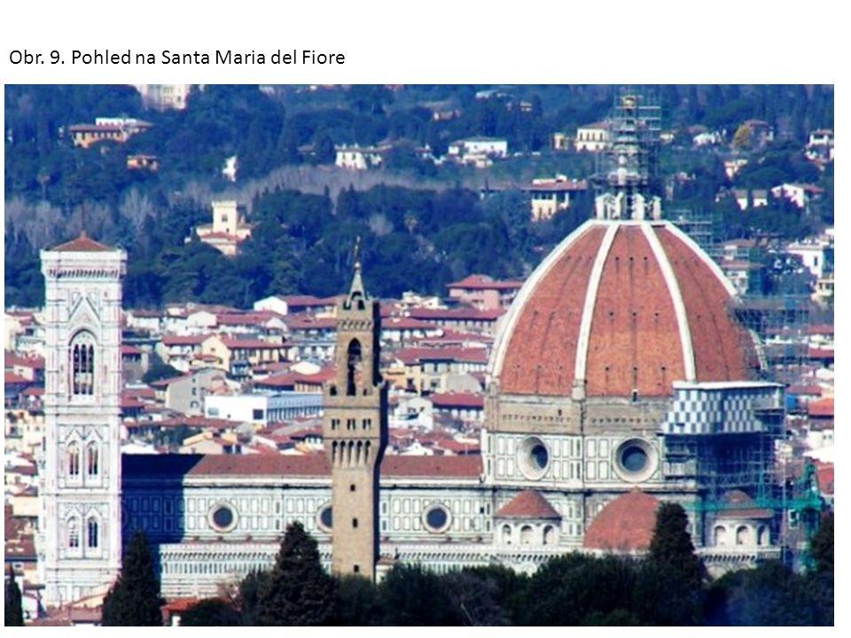 3.Giottova zvonice byla postavena v letech 1334– 1359 jako součást katedrály Santa Maria del Fiore.