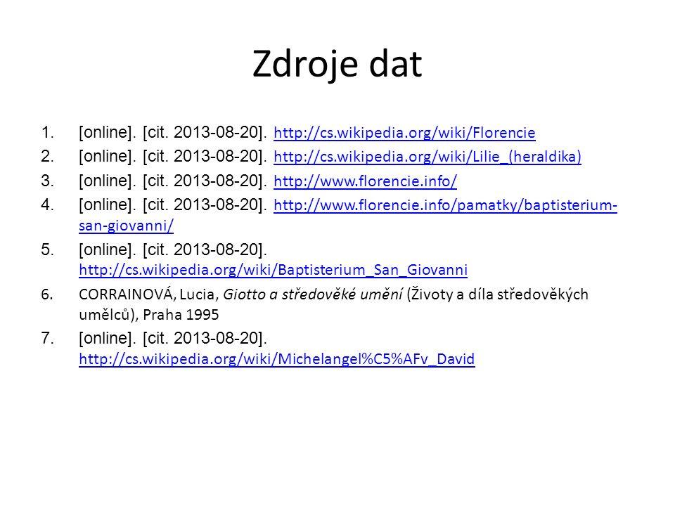 Zdroje dat 1.[online]. [cit. 2013-08-20].