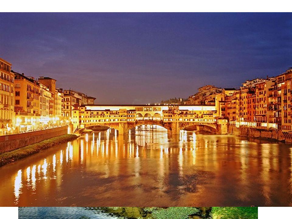 Ponte Vecchio,,Most zlatníků,, - přes řeku Arno,ve 14. století zde byli koželuhové a řezníci