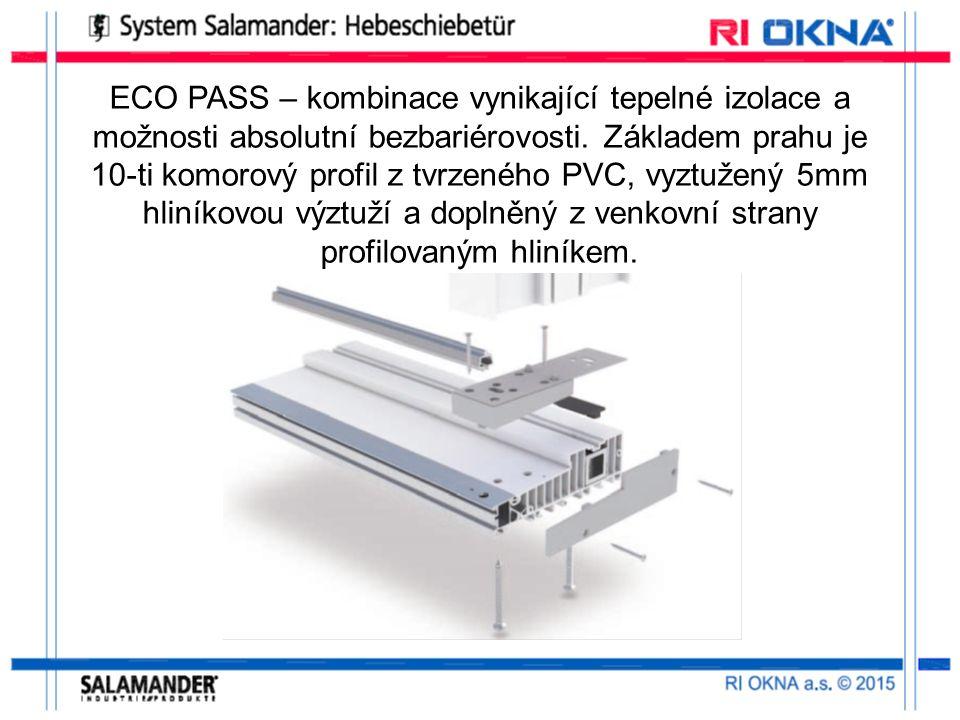 ECO PASS – kombinace vynikající tepelné izolace a možnosti absolutní bezbariérovosti.
