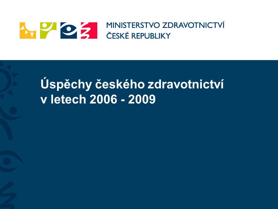 Úspěchy českého zdravotnictví v letech 2006 - 2009
