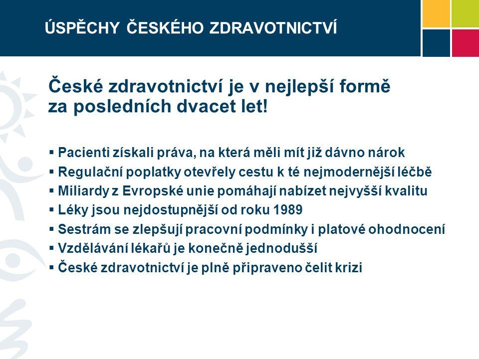 ÚSPĚCHY ČESKÉHO ZDRAVOTNICTVÍ České zdravotnictví je v nejlepší formě za posledních dvacet let.