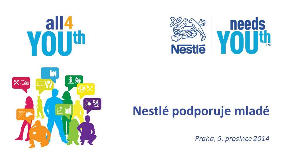 Praha, 5. prosince 2014 Nestlé podporuje mladé