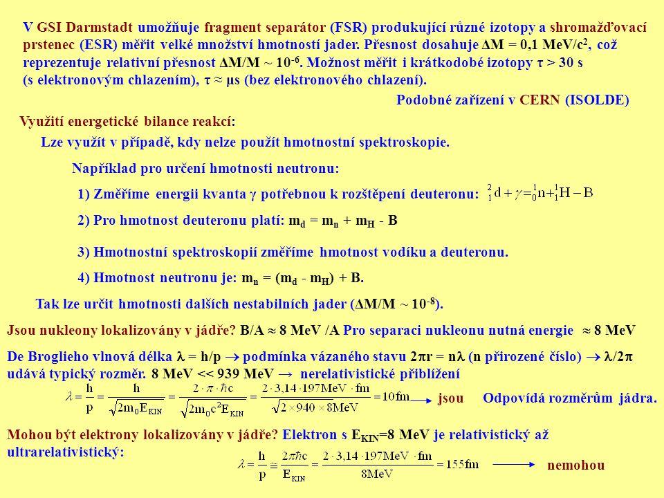 Zprostředkující částice s podobnou hmotností byly nalezeny a označeny jako mezony π.