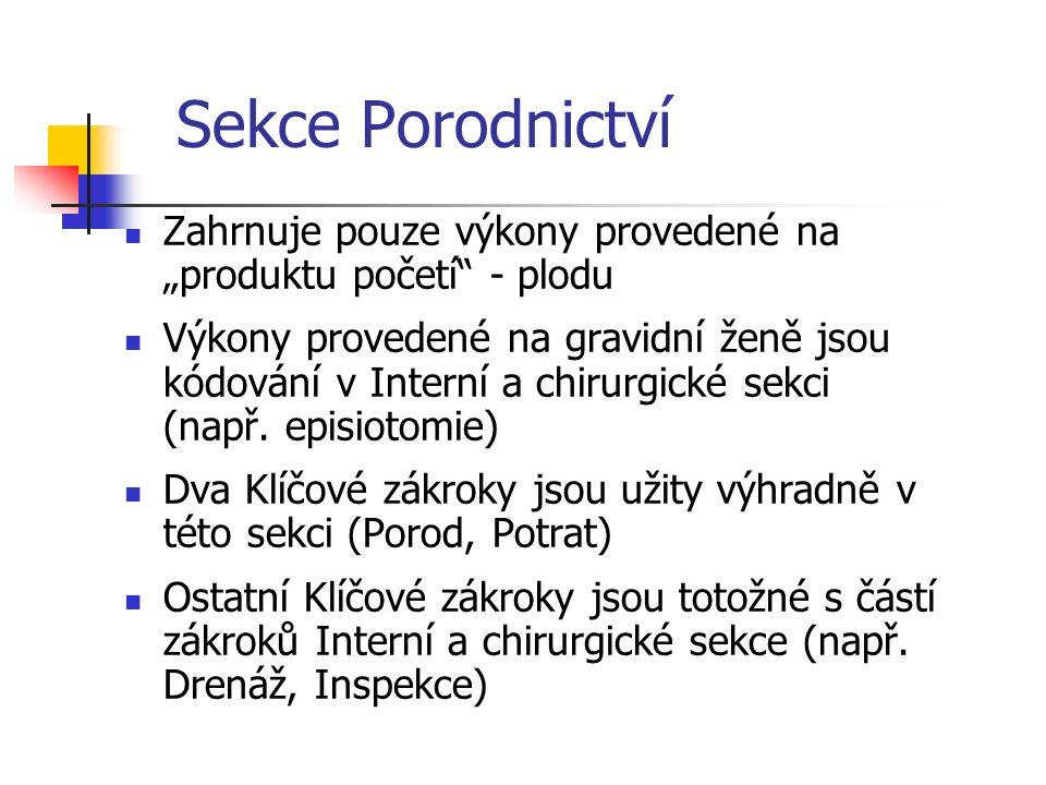 """Sekce Porodnictví Tělní soustava (Pole 2) Obsahuje jedinou hodnotu pole """"Tělní soustava : Těhotenství"""