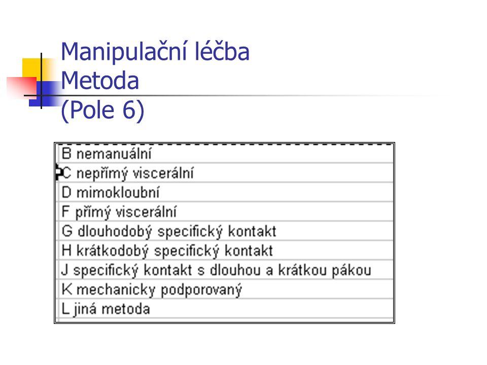 Manipulační léčba Metoda (Pole 6)