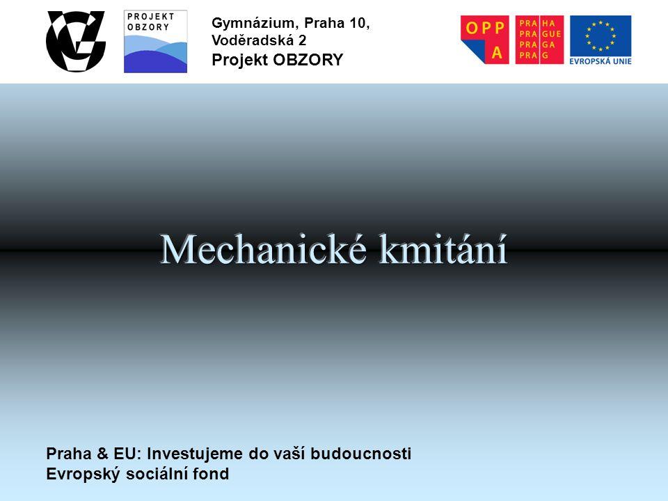 Praha & EU: Investujeme do vaší budoucnosti Evropský sociální fond Gymnázium, Praha 10, Voděradská 2 Projekt OBZORY